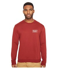 Brixton Palmer Crew Fleece Brick Men's Fleece Red