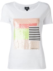 Armani Jeans Sequins T Shirts White