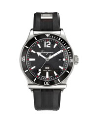 1898 Sport Watch Black Salvatore Ferragamo Silver