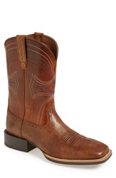Ariat 'Sport' Leather Cowboy Boot Men Brown