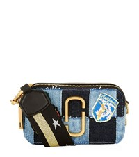 Marc Jacobs Small Denim Snapshot Camera Bag Female Blue