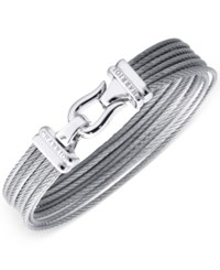 Charriol Women's Silver Tone Cable Bangle Bracelet
