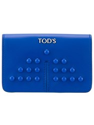 Tod's Small Studded Coin Purse Blue