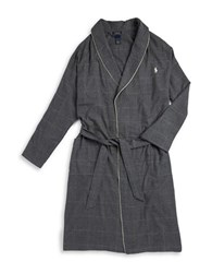 Polo Ralph Lauren Flannel Robe Charcoal