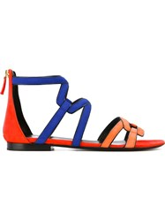 Pierre Hardy 'Kaliste' Gladiator Sandals Yellow And Orange