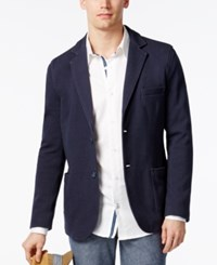 Weatherproof Ryan Seacrest Distinction Rio Collection Men's Pique Knit Blazer Only At Macy's Navy