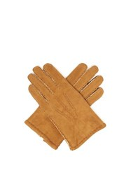 Dents York Shearling Lined Suede Gloves Yellow