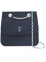Mark Cross Chain Strap Crossbody Bag Blue