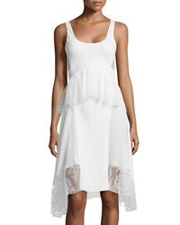 Jason Wu Tulle Lace Peplum Tank Dress Ivory