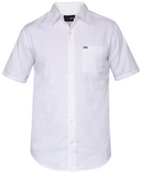 Hurley Men's One And Only Short Sleeve Shirt White