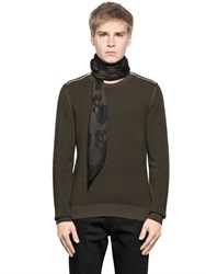 The Kooples Zipped Cotton Sweater
