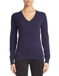 Lord And Taylor Plus Cashmere V Neck Sweater Evening Blue