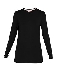 Ted Baker Rojo Fitted Long Sleeved Top Black