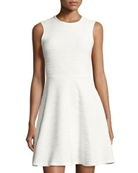 Shoshanna Karen Textured Knit Dress White