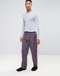 French Connection Cotton Check Lounge Pants Navy