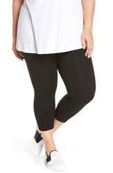 Nordstrom Plus Size Women's Go To High Waist Crop Leggings Black