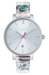 Ted Baker 'S London Kate Round Leather Strap Watch 38Mm