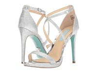 Blue By Betsey Johnson Andi Silver Glitter High Heels
