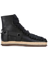 Ktz Lace Detail Boots Men Raffia Calf Leather Leather 42 Black