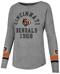 47 Brand '47 Women's Cincinnati Bengals Encore Long Sleeve T Shirt Gray