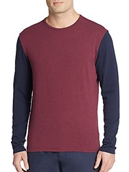 Life After Denim Two Tone Cotton Tee Mulberry