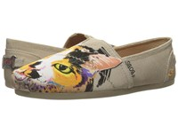 Skechers Plush Scratch Party Taupe Women's Slip On Shoes