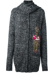 Dolce And Gabbana Circus Camel Patch Cardigan Grey
