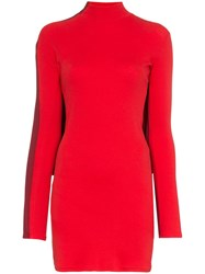 Y Project High Neck Cotton Blend Dress And Top Red
