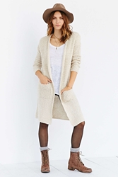 Ecote Loopy Midi Cardigan Sweater Ivory