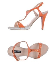 Cuple Platform Sandals Orange