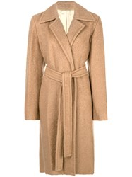 Helmut Lang Tailored Single Breasted Coat Nude And Neutrals