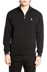 Psycho Bunny Men's Quarter Zip Sweater