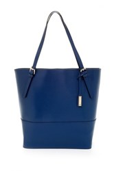 Abro North To South Saffiano Tote Blue
