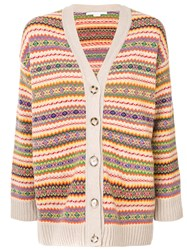 Stella Mccartney Stripe Patterned Cardigan Virgin Wool