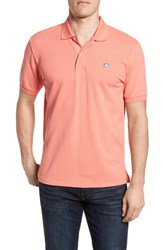 Southern Tide 'Skipjack Micro Pique' Stretch Cotton Polo Shell Pink