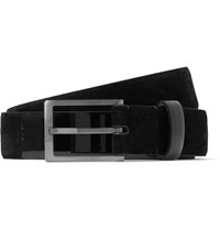 Lanvin 4Cm Black Suede Belt Black