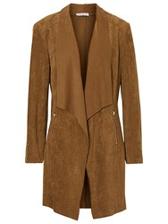 Betty Barclay Faux Suede Waterfall Jacket Dark Brass