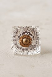 Anthropologie Faceted Cube Knob Clear