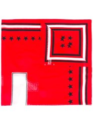 Givenchy 17 Print Scarf Red