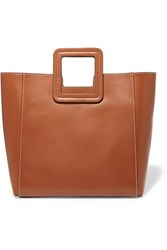 Staud Shirley Leather Tote Tan