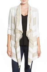 Ella Moss 'Robin' Open Cardigan Natural