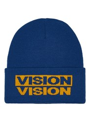 Topman Multi Vision Street Wear Blue And Yellow Beanie