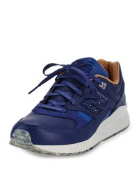 New Balance Men's Ml530 Leather Trainer Sneaker Blue Brown Blue Brown