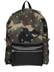 Alexander Mcqueen Camouflage Printed Nylon Backpack