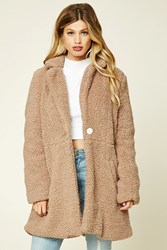 Forever 21 Faux Fur Cocoon Coat Brown