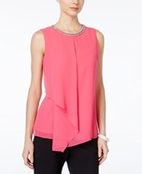 Msk Embellished Sleeveless Blouse Reef Rose