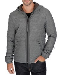 Lucky Brand Hooded Zip Front Jacket Grey