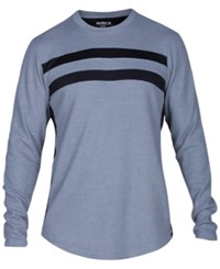 Hurley Men's Pano Stripe Thermal Knit T Shirt Cool Grey