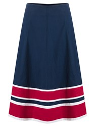 East Striped Hem Skirt Blue