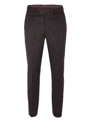 Racing Green Men's Hamilton Semi Plain Trousers Charcoal
